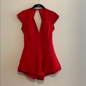 Beautiful red romper